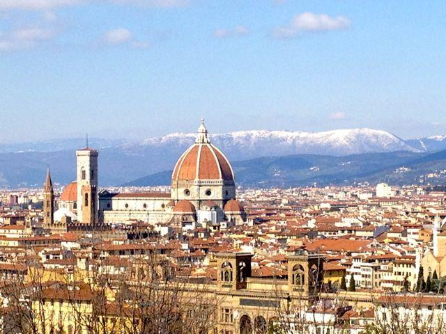Firenze snow background